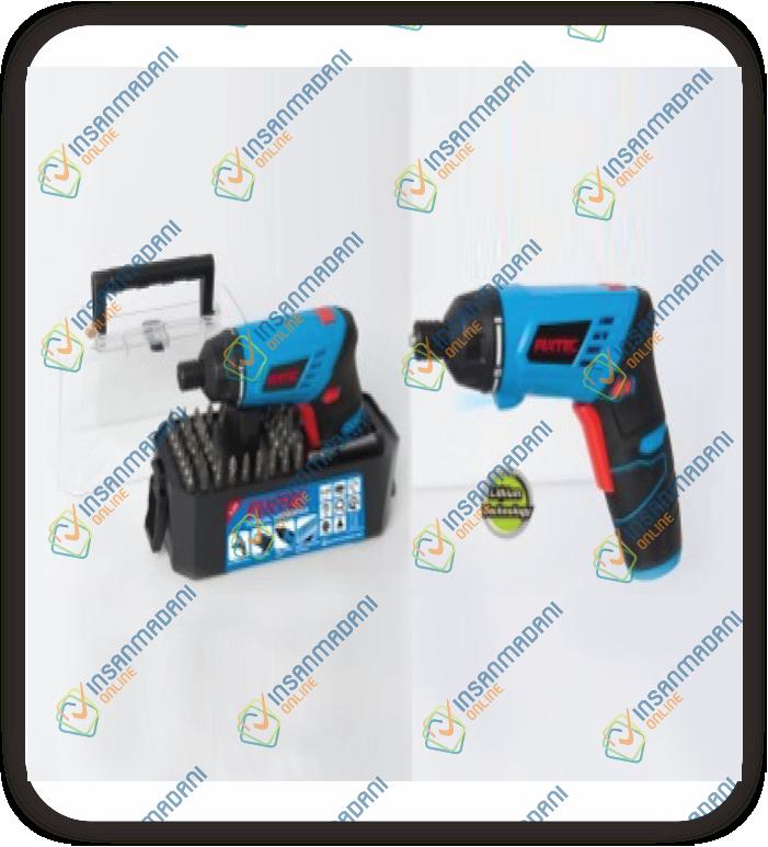 3.6V Cordless Screwdriver, 50pc screwdriver bits