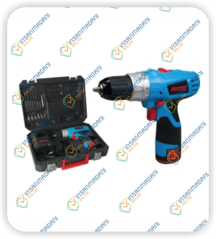 12V Cordless Drill, Two Battery, 350/1150 rpm