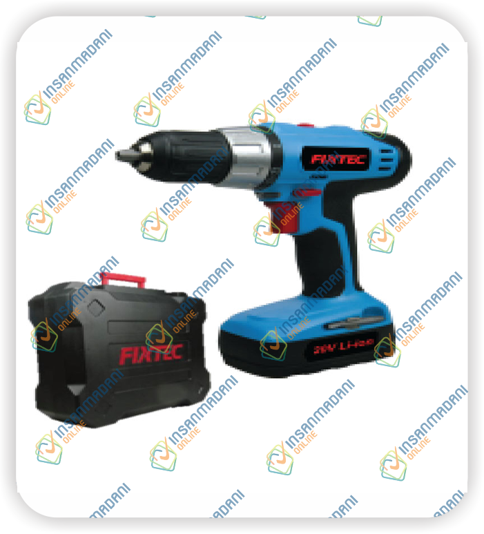 18V Cordless Drill, Two Battery, 400/1400 rpm